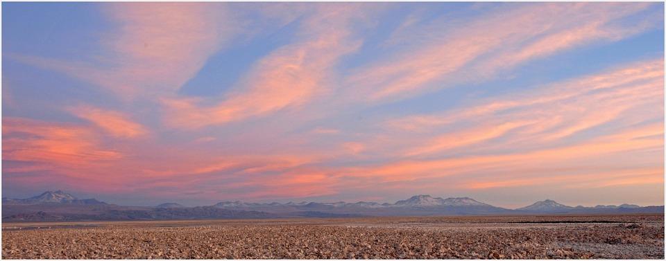 Chile, Sunset, Sky, Lighting, Atacama