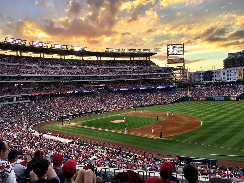 Baseball, Baseball Game, Sunset, Ball Park