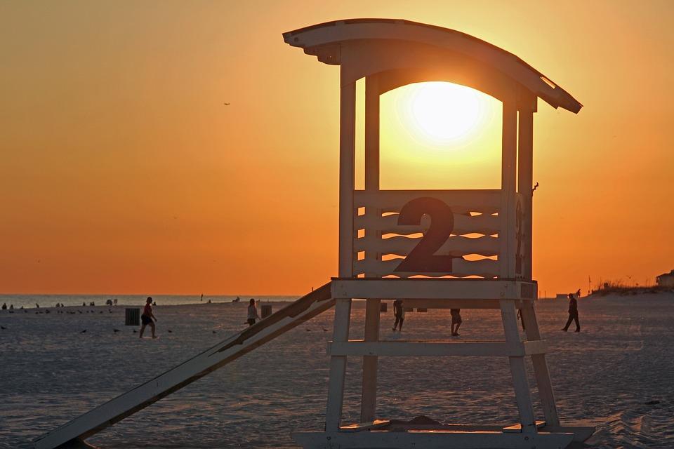 Beach, Sunset, Baywatch, Abendstimmung, Panorama, Sky