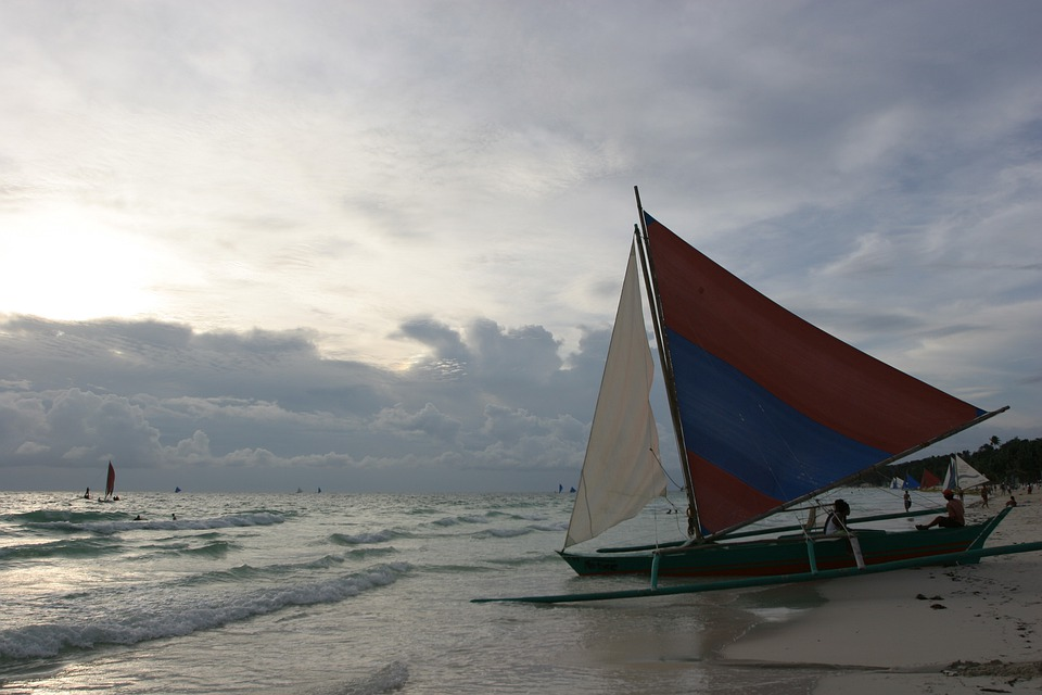 Boracay Beach, Beach, Sea, Sunset