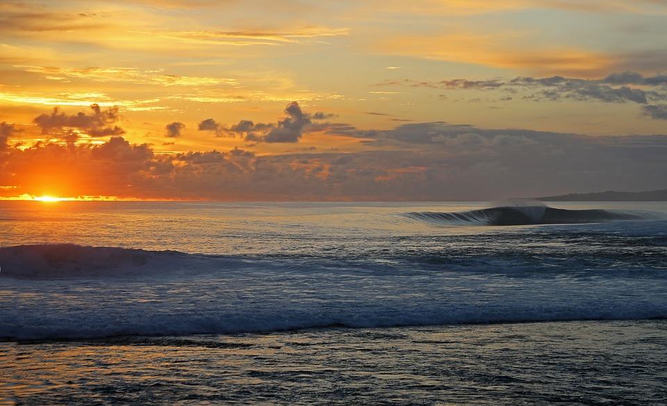 Sunset, Body Of Water, Widescreen, Dawn, Mar, Beach