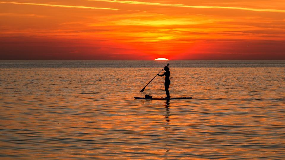 Beach, Sunset, Sea, Farbenpracht, Evening
