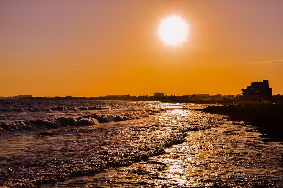 free photo sunset beach sun sea sky afternoon landscape max pixel