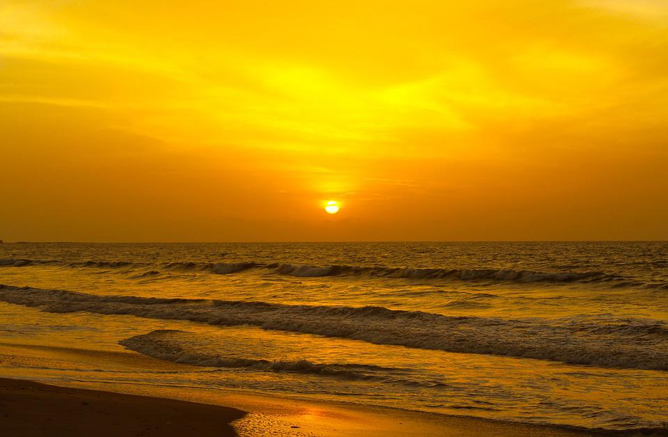 Sunset, Golden, Sunset Beach, Landscape, Sunlight