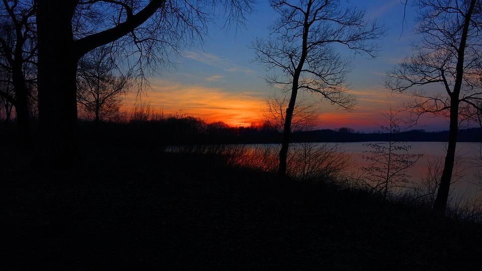 Sunset, Water, Night, Abendstimmung, Evening, Blue Hour
