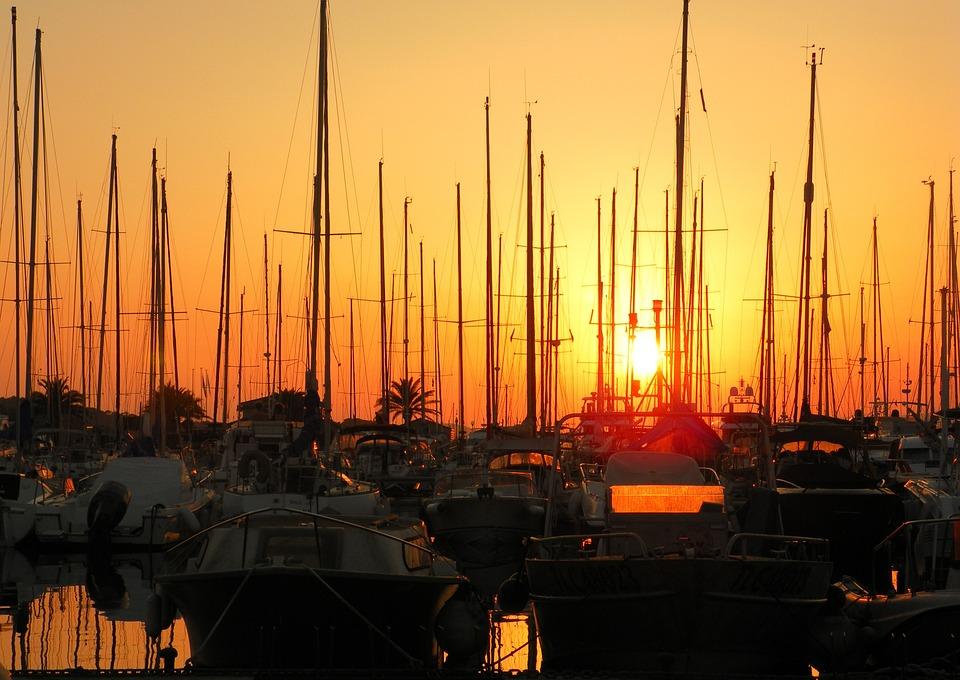 Boat, Sailing Ship, Vela, Porto, Sunset, Browse