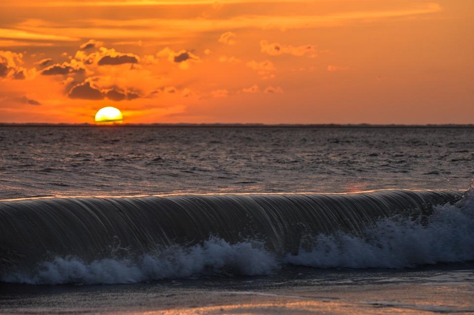 Sunset, Borkum, Wave