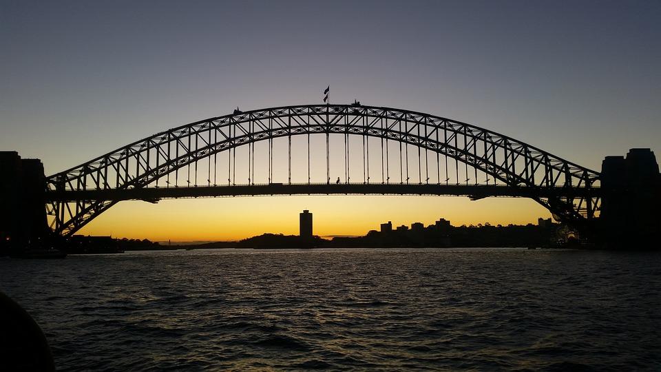 Bridge, Sunset, Harbour
