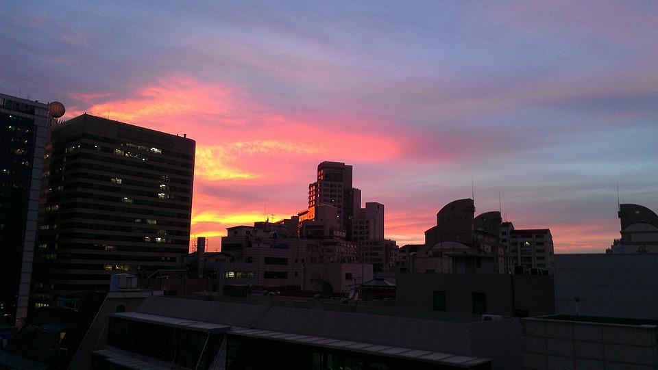 Sunset, Seocho-dong, Building