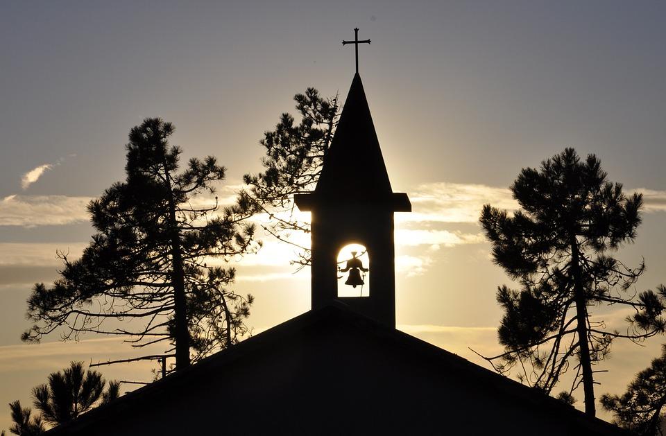 Church, Sun, Bell, Sky, Sunset, Architecture, Sanctuary
