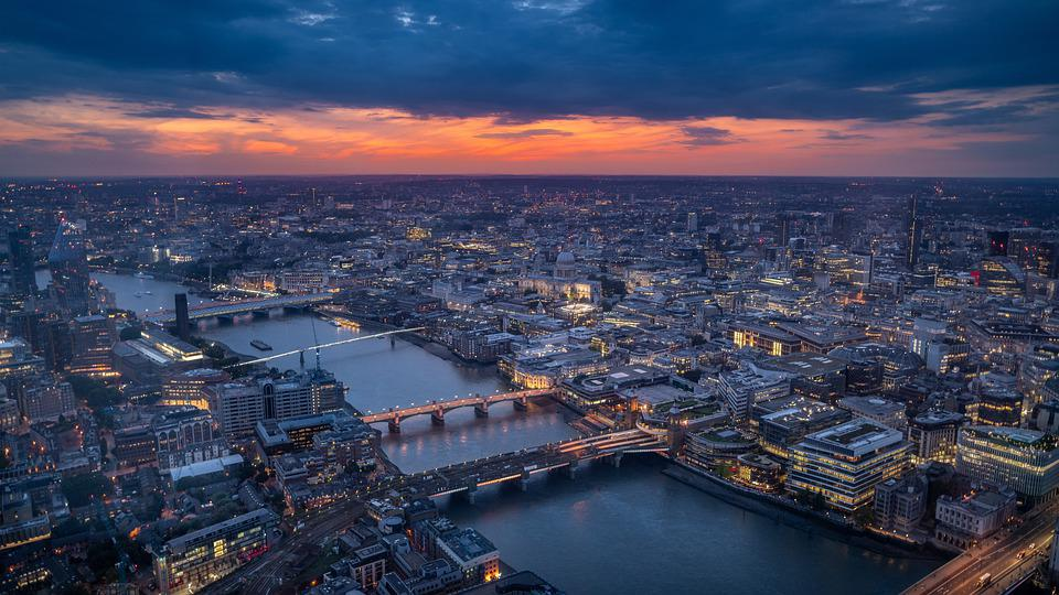 London, Sunset, England, Architecture, City, Bridge