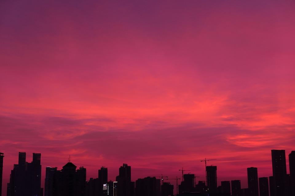 East, Asia, City, Life, Shenzhen, Sunset, The Night Sky