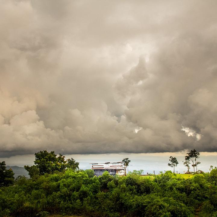 Sky, Cloud, Sunset, Purokerto, Central, Java, Indonesia