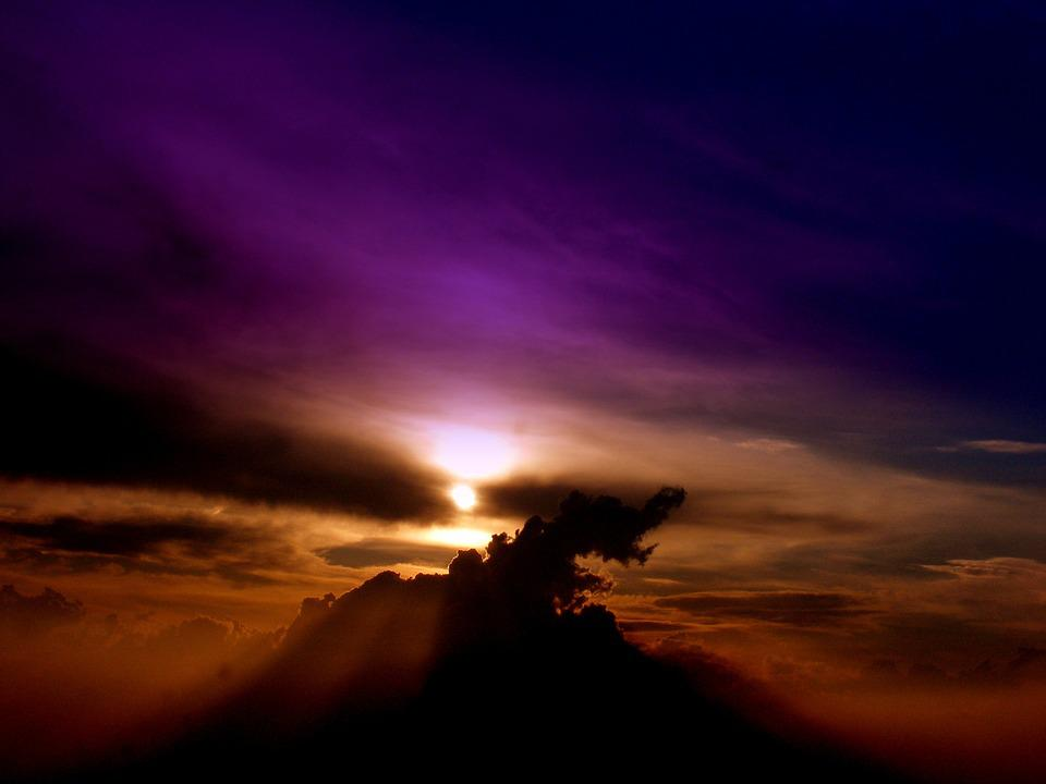 Sunset, Sky, Silhouette, Clouds, Atmosphere, Dusk