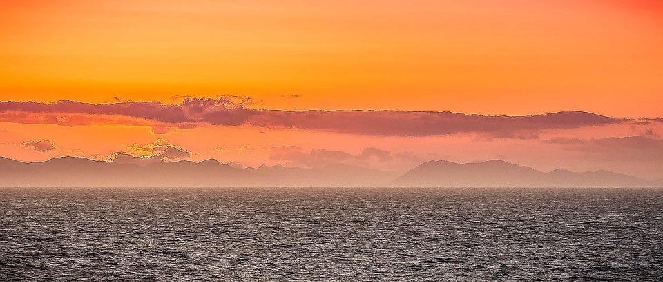 Sunset, Ocean, Sea, Clouds, Nature, Holidays, Sky, Warm
