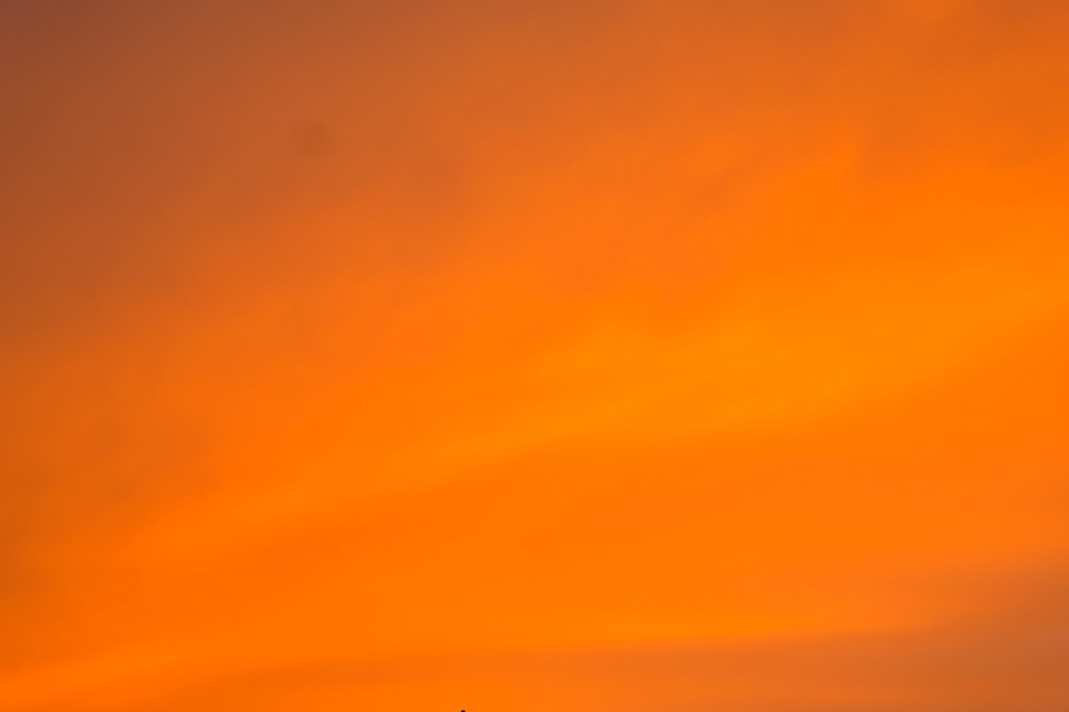 Sky, Coloring, Sunset, Evening Sky, Orange, Colored