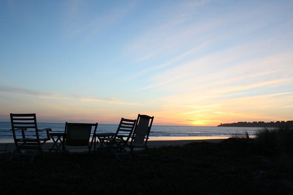 Free photo Sunset Conversation Beach Chairs Group Friends Max Pixel