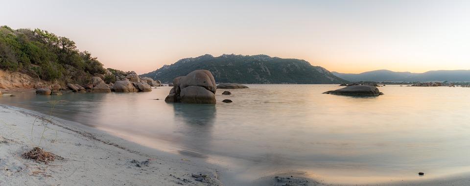 Beach, Corsica, Portovecchio, Santagiulia, Sunset