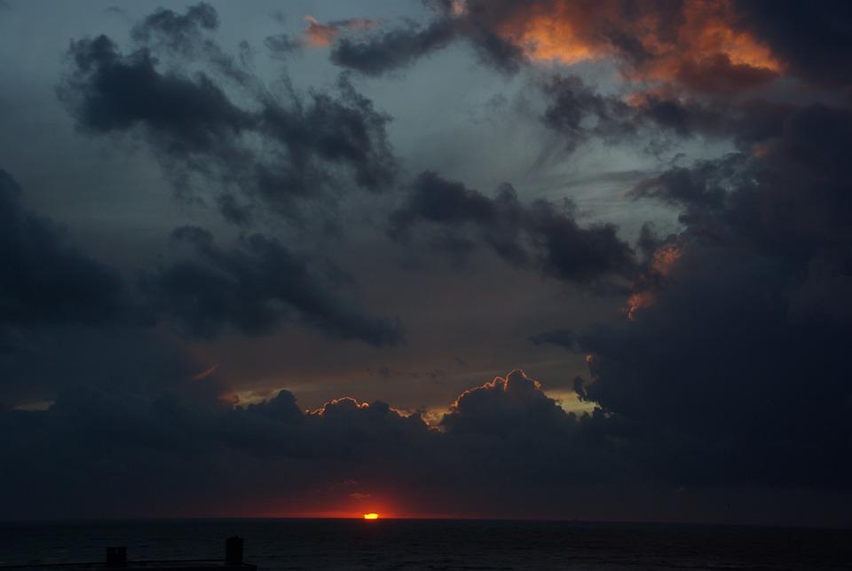 Gewitterstimmung, Dark Clouds, Storm, Sky, Sunset