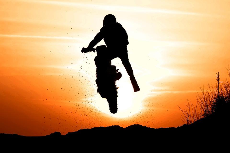 Day, Sunset, Biker, Silhouette