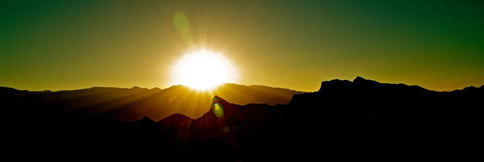 Desert, Death Valley, Sunset