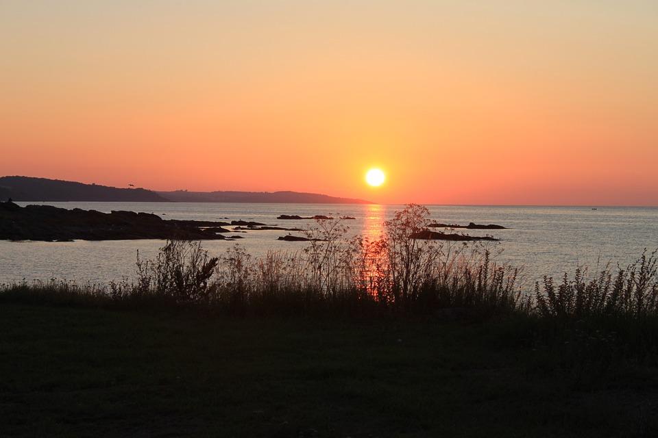 Denmark, Bornholm, Listed Port, Sunset