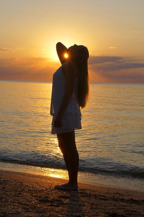 Crimea, Beach, Sunset, Travel, Russia, Dress, Sea