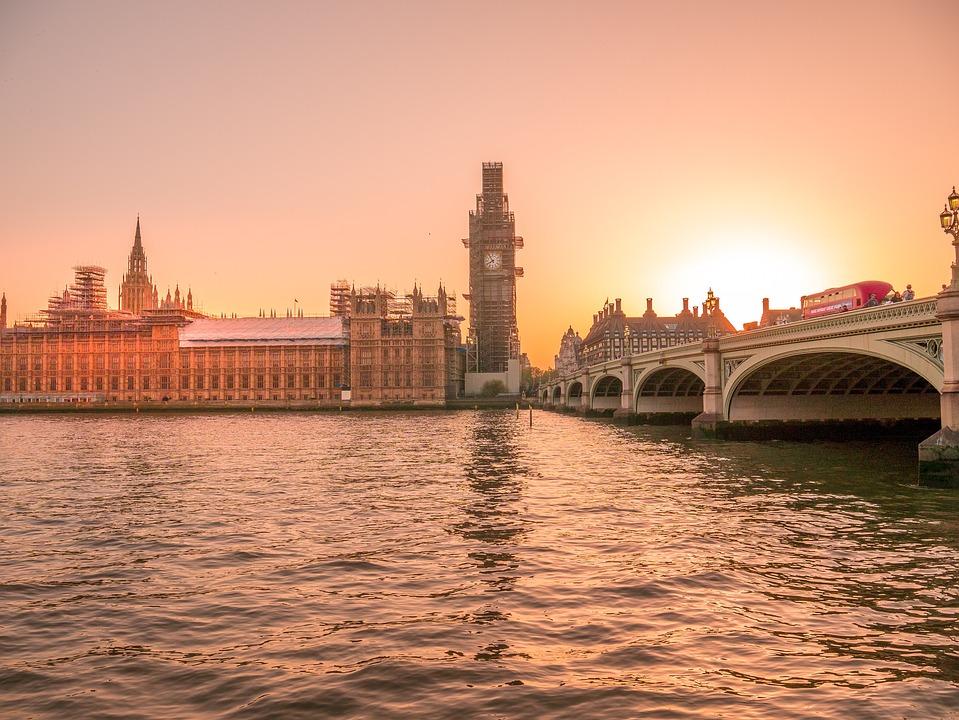 London, Big Ben, Sunset, England, Westminster