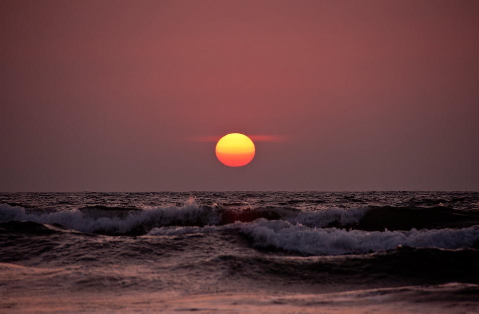 Sunset, Beach, Beach Sunset, Water, Horizon, Evening