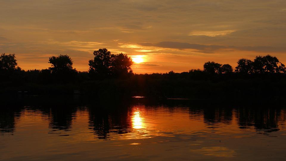 Sunset, Sky, Clouds, Sun, Abendstimmung, Evening Sky