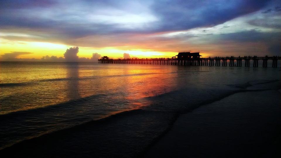Ocean, Florida, Sunset, Water, Beach, Sky, Nature
