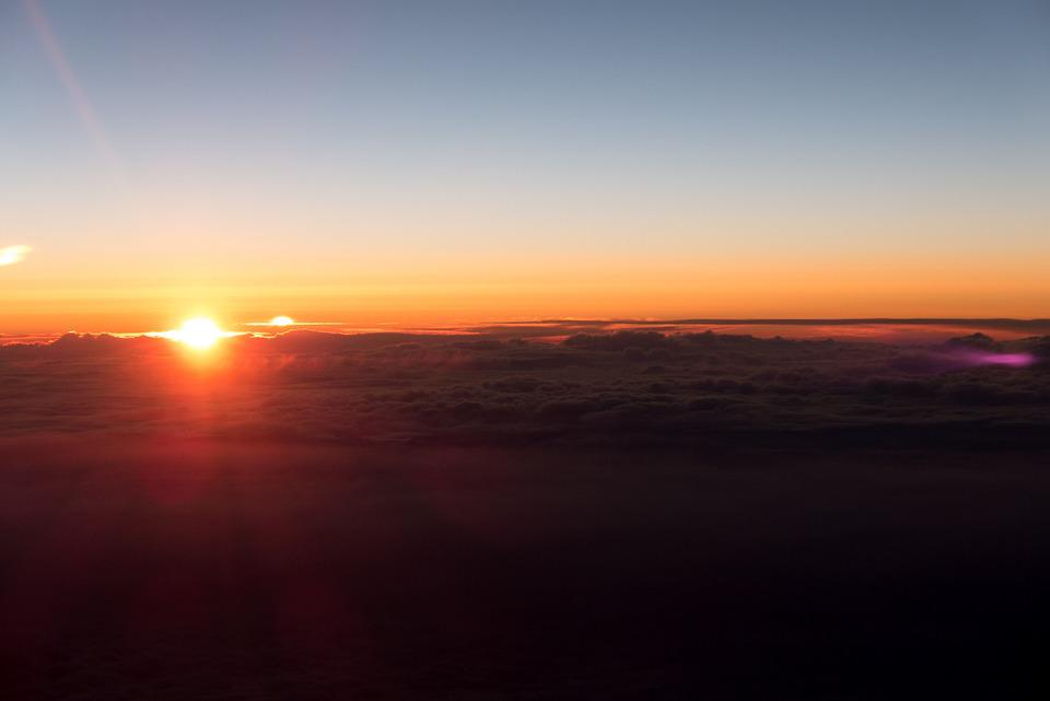 Sunset, Above The Clouds, Aircraft, Sky, Fly, Flight