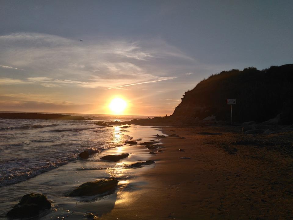 Sunset, Free Beach, Summer, Anzio, Tor Caldara, Sea