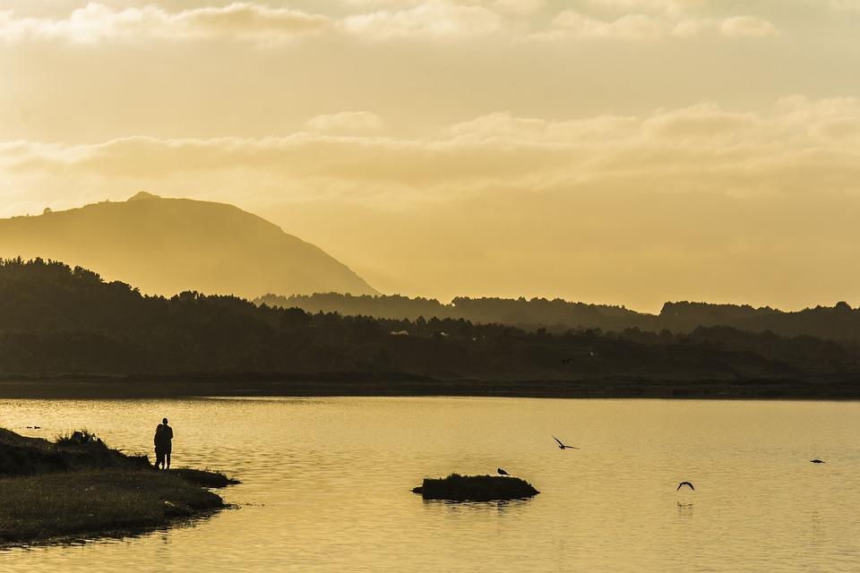 Sunset, Mountain, Valdoviño, Galicia, Spain, Relax