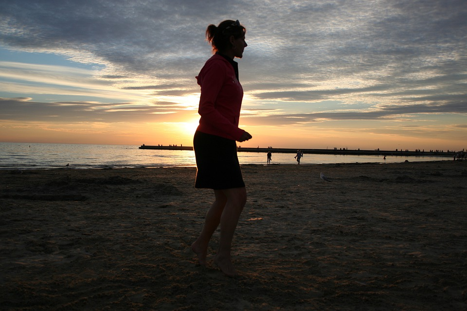 Woman, Girl, Sports, Jogging, Fitness, Sunset, Ontario