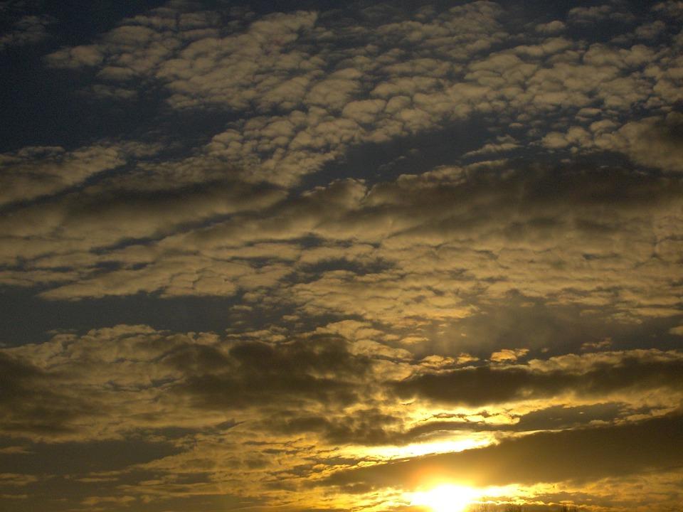 Clouds, Nature, Sunset, Evening, Glow