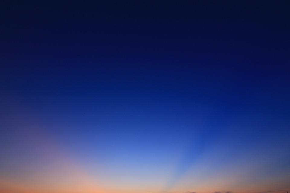 The Evening Sun, Twilight, The Rays, Sunset, Sky, Glow