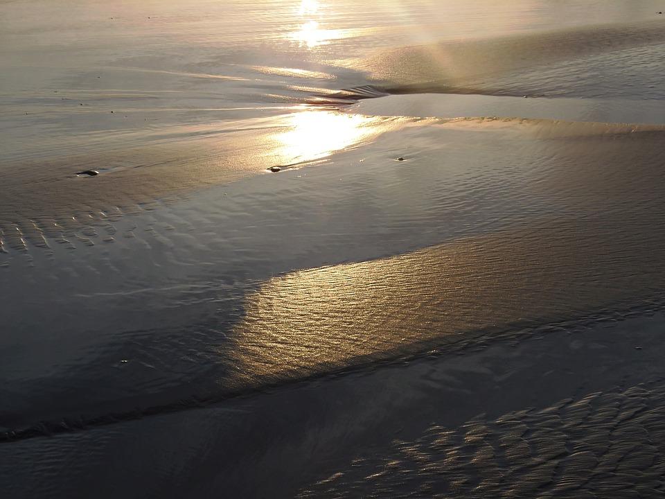Sunset, Gold, Sand, Sun, Spain, Zen, Horizon, Energy