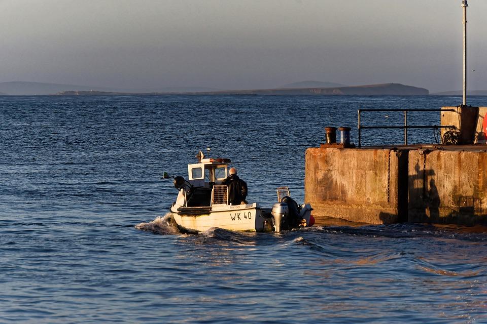 Boat, Sailor, Fishing Boat, Harbor, Sunset, Harbour