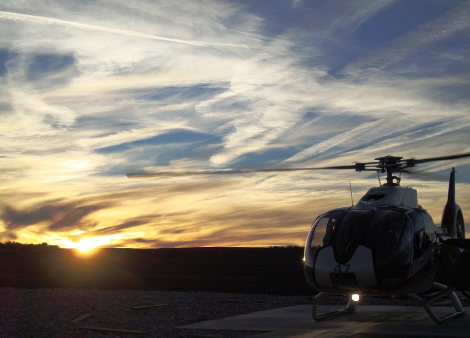 Sunset, Helicopter