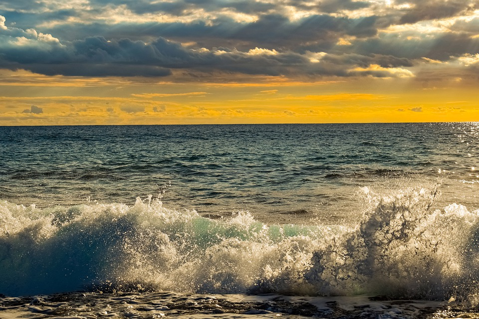 Sea, Sunset, Seascape, Sky, Clouds, Horizon, Nature