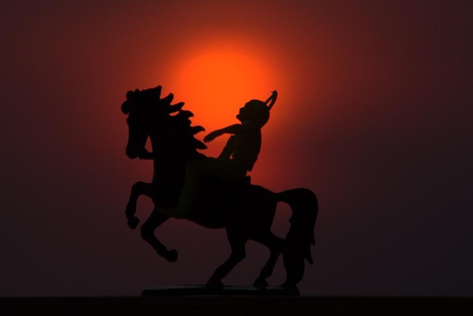Free photo Sunset Horse Native American Native Riding - Max