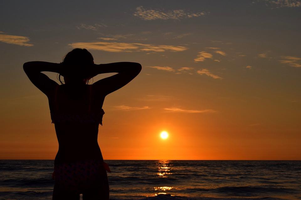 Sunset, Sea, Hot, Beach, Holiday, Waves, Sun, Ocean