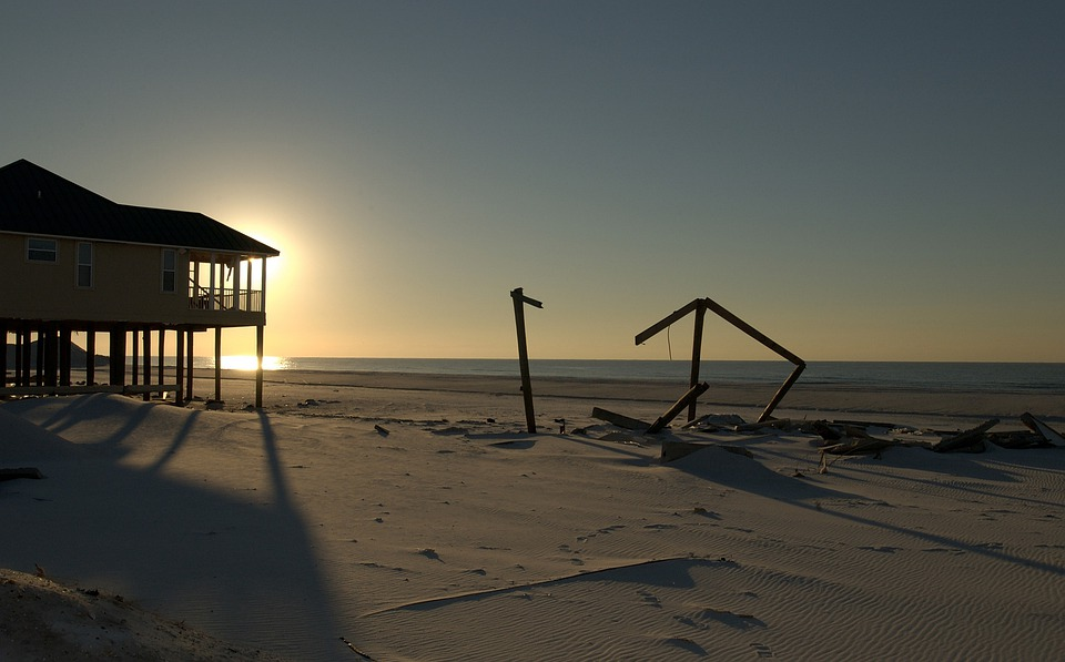 Pensacola Beach, Florida, Sunset, Hurricane, Damage