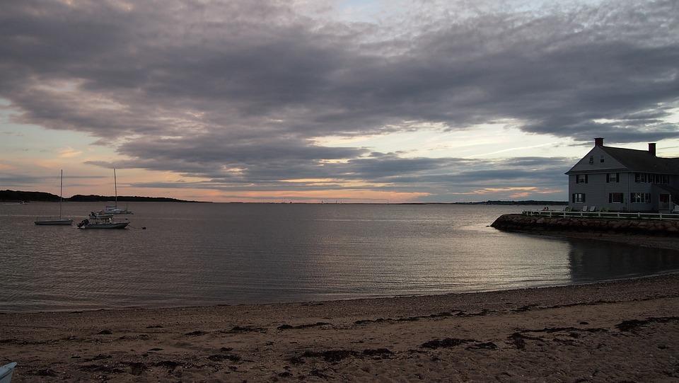 Hyannis Port, Usa, Sunset, Sky, Abendstimmung, Clouds
