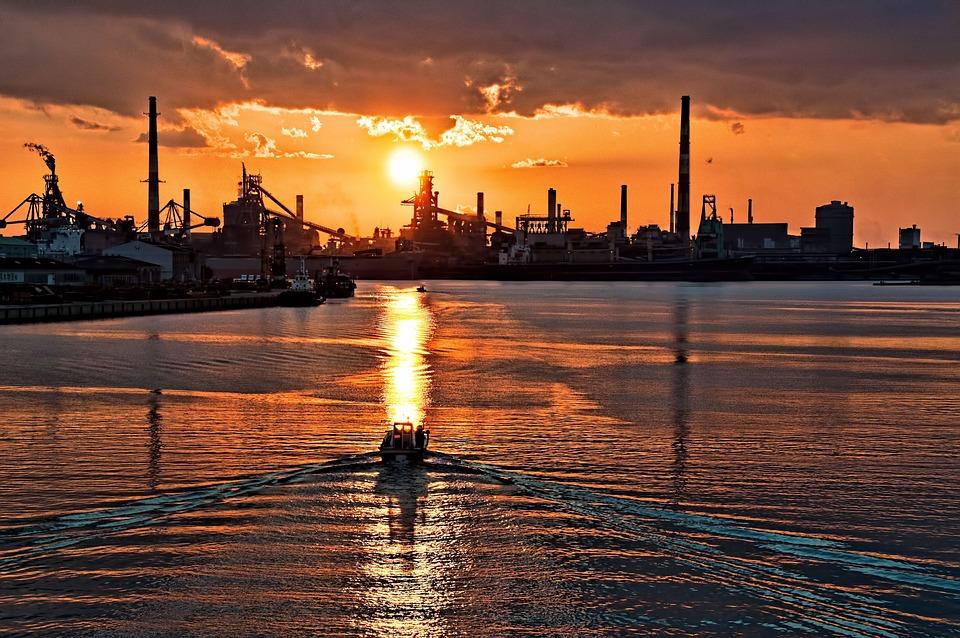 Sunset, Japan, Ship