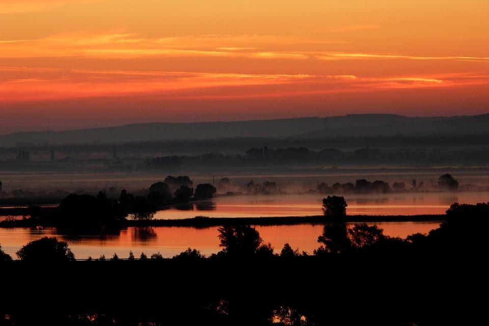 Sunset, Croatia, Lake, šibenik