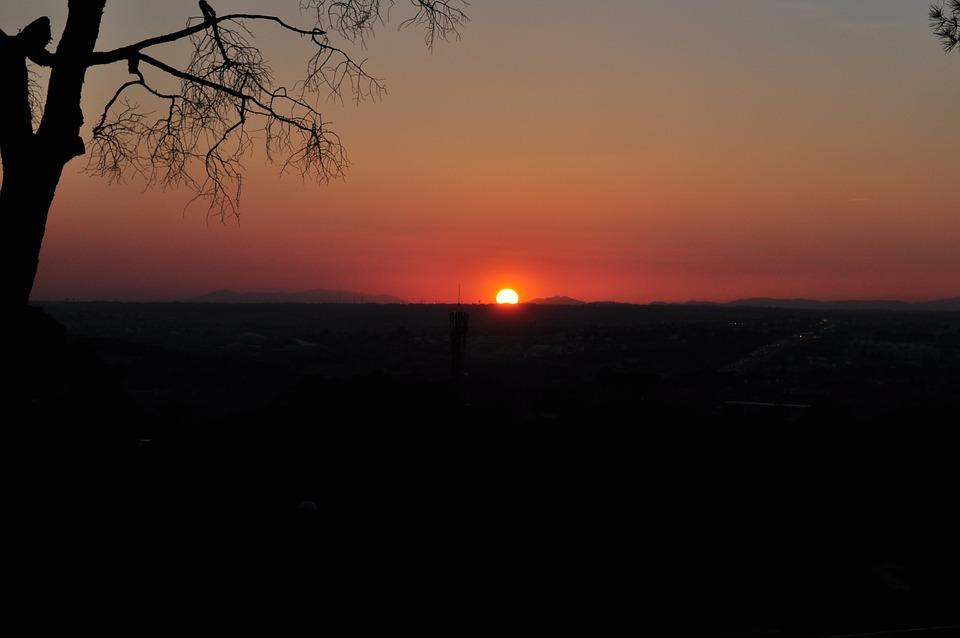 Sunset, Madrid, Landscape, Wallpaper, Landscapes, Sky