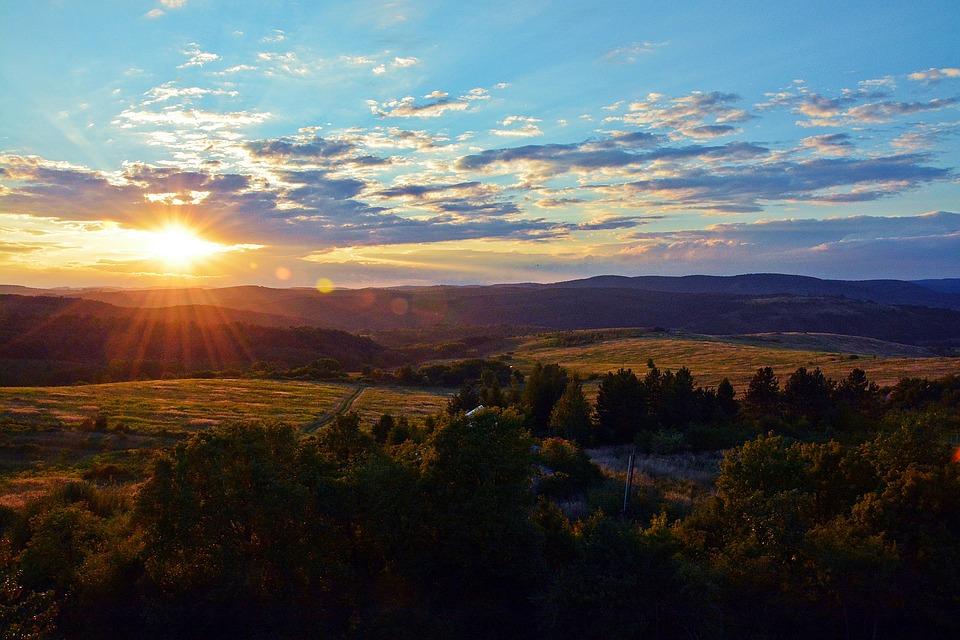 Landscape, Sunset, Nature, Mountains