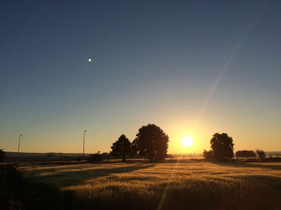 Nature, West, Sunset, Landscape, Orange, Mystery, Field